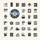 Web icon collection - household appliances Royalty Free Stock Photos