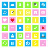 Web icon flat style on colorful rectangle background Stock Images