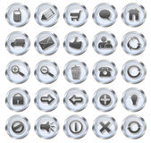 Web Icon Glass Buttons Royalty Free Stock Photo