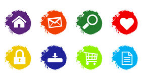 Web icon illustrator paint Royalty Free Stock Photo