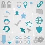 Web Icon Info Graphic Set 1 Stock Photos
