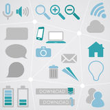Web Icon Info Graphic Set 2 Royalty Free Stock Photos