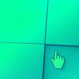 Web Icon on LED screen Stock Photos