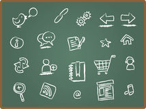 Web Icon On Chalk Board 1 Royalty Free Stock Image