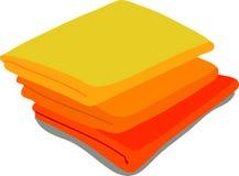 Web icon orange towels Royalty Free Stock Image