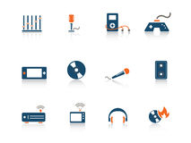 Web icon series. Set of blue and orange web icons from a series in my portfolio Stock Images