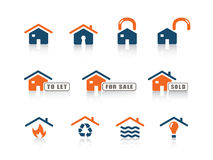 Web icon series. Set of blue and orange web icons from a series in my portfolio Royalty Free Stock Photography