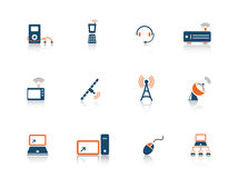 Web icon series. Set of blue and orange web icons from a series in my portfolio Stock Photos
