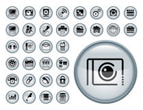 Web Icon Set Royalty Free Stock Photos
