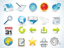 Web icon set Stock Images