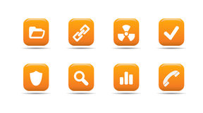 Web icon set 2| Apricot series Royalty Free Stock Photo