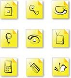 Web icon set 2 house. Web icon set house and office royalty free illustration