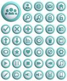 Web Icon Set. Big set of 3d Web Icon. Vector illustration Royalty Free Stock Image