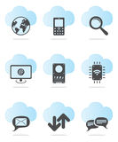 Web icon set. Two colors web icon set Royalty Free Stock Photography