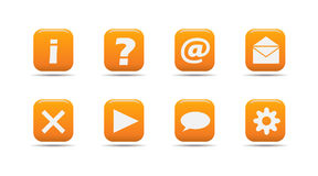 Web icon set 3| Apricot series. Web icon set 3 | Apricot series- a collection of 3d looking orange web icons stock illustration