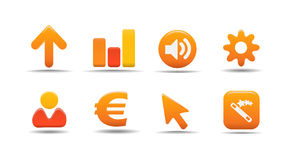Web icon set 3| Pumpkin series Royalty Free Stock Image