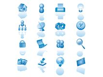 Web icon set. This icon set is suitable to many type of website Stock Photography