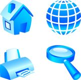 Web icon set. Stock Photos
