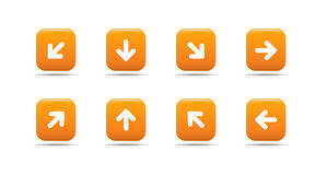 Web icon set 5| Apricot series Stock Image