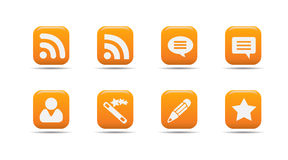 Web icon set 7| Apricot series. Web icon set 7 | Apricot series- a collection of 3d looking orange web icons royalty free illustration