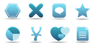 Web icon set 7 | Aqua series Royalty Free Stock Images