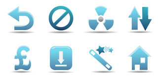 Web icon set 8 | Aqua series Stock Image