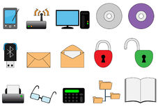 Web icon set. Collection of different web icons Royalty Free Stock Photo