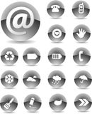Web icon set Black Royalty Free Stock Photos