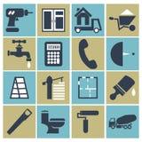 Web icon set - building, construction. vector illustration Stock Photos