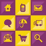 Web icon set. It can be used as - logo, pictogram, icon, infographic element Stock Photography