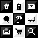 Web icon set. It can be used as - logo, pictogram, icon, infographic element Stock Image