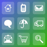Web icon set. It can be used as - logo, pictogram, icon, infographic element Royalty Free Stock Image