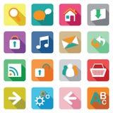 Web icon set. Colourful flat web icon set Royalty Free Stock Images