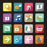 Web icon set. Colourful flat web icon set Royalty Free Stock Photos