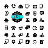 Web icon set. Contact us Stock Image