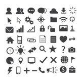 Web icon set. Web design icon set 50 Vector Illustration