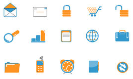 Web icon set - duotone. Web icon set with blue and orange colors. Vector also available