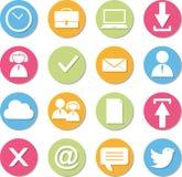 Web icon set. Flat design Stock Photos