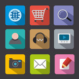 Web icon set flat Royalty Free Stock Image