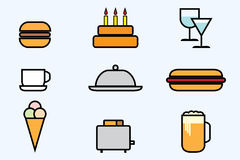 Web icon set - foods and beverages Stock Image