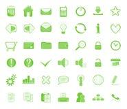 Web icon set green Stock Photos