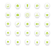 Web icon set green. Vector Illustration of web design icon set Royalty Free Stock Image