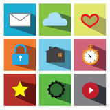 Web icon set  illustration eps 10 Royalty Free Stock Photos