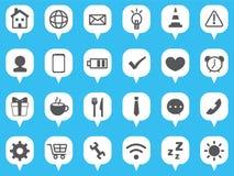 Web icon set. Web icon notification collection set royalty free illustration