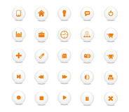 Web icon set orange. Vector Illustration of web design icon set Royalty Free Stock Photos