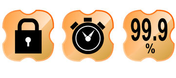 Web icon set orange Stock Photo