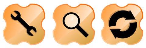 Web icon set orange Stock Image