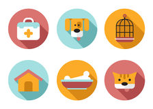 Web icon set Pet, Vet, Pet Shop Stock Photography