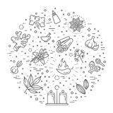Web icon set - spices, condiments and herbs Royalty Free Stock Photography