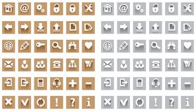 Web Icon set Stock Photos